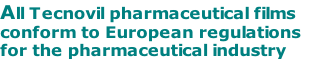 All Tecnovil pharmaceutical films